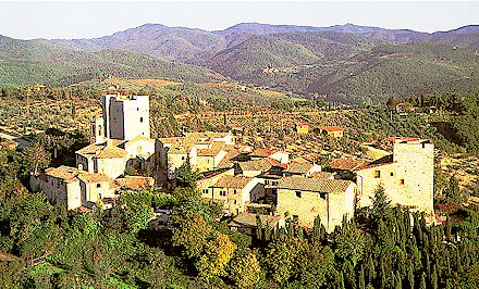 view of Gaiole in Chianti