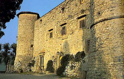 Castle of Meleto near Gaiole in Chianti